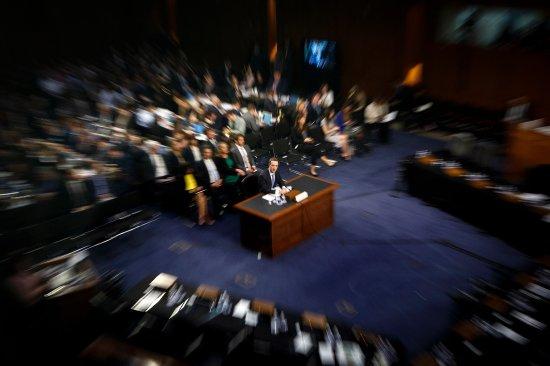 Facebook CEO Zuckerberg testified to the Senate in Washington, D.C. on April 10, 2018