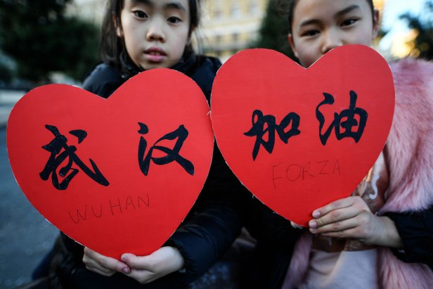 Chinese children in Naples
