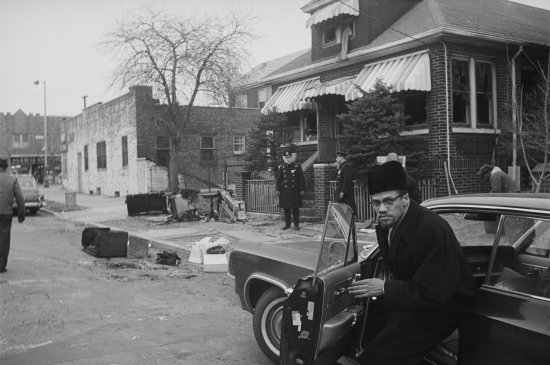 Malcolm X at His Home